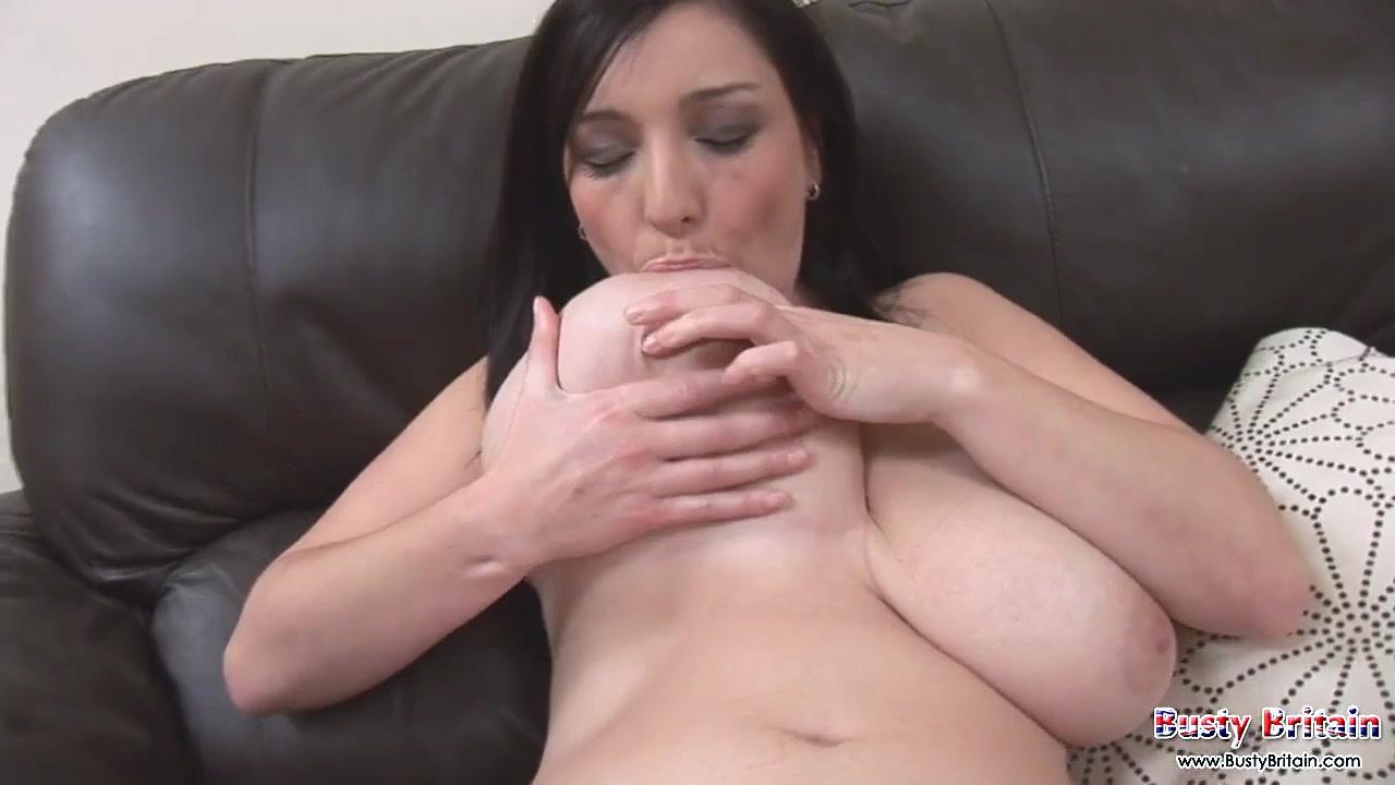 Oldie but goodie - amateur brunette babe masturbating and sucking on her big nipples