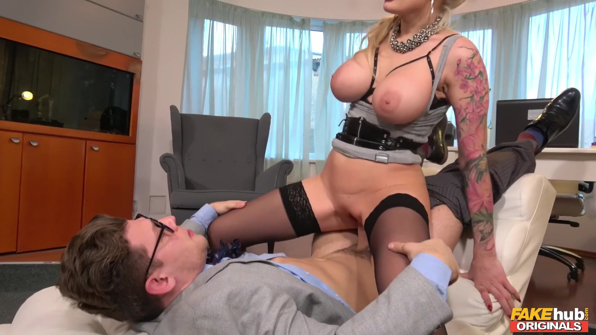 Dirty Therapy with busty blonde pornstar Kayla Green & shrink Michael Fly - fake tits