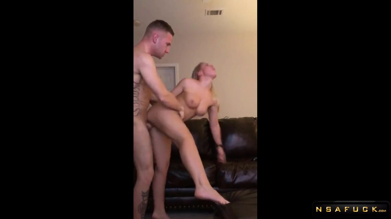 Hot Busty Blonde Milf Banged Hard On The Sofa - Amateur