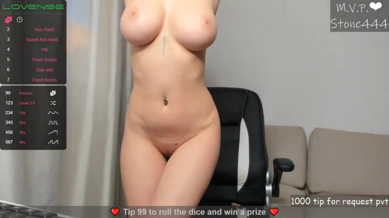 Young Caucasian babe with big naturals solo on webcam - silicone free monster boobs