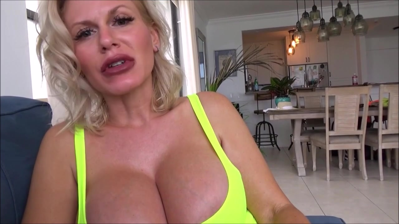 Mom Finds Mr. Right - milf pornstar with fake monster tits in POV hardcore with cumshot
