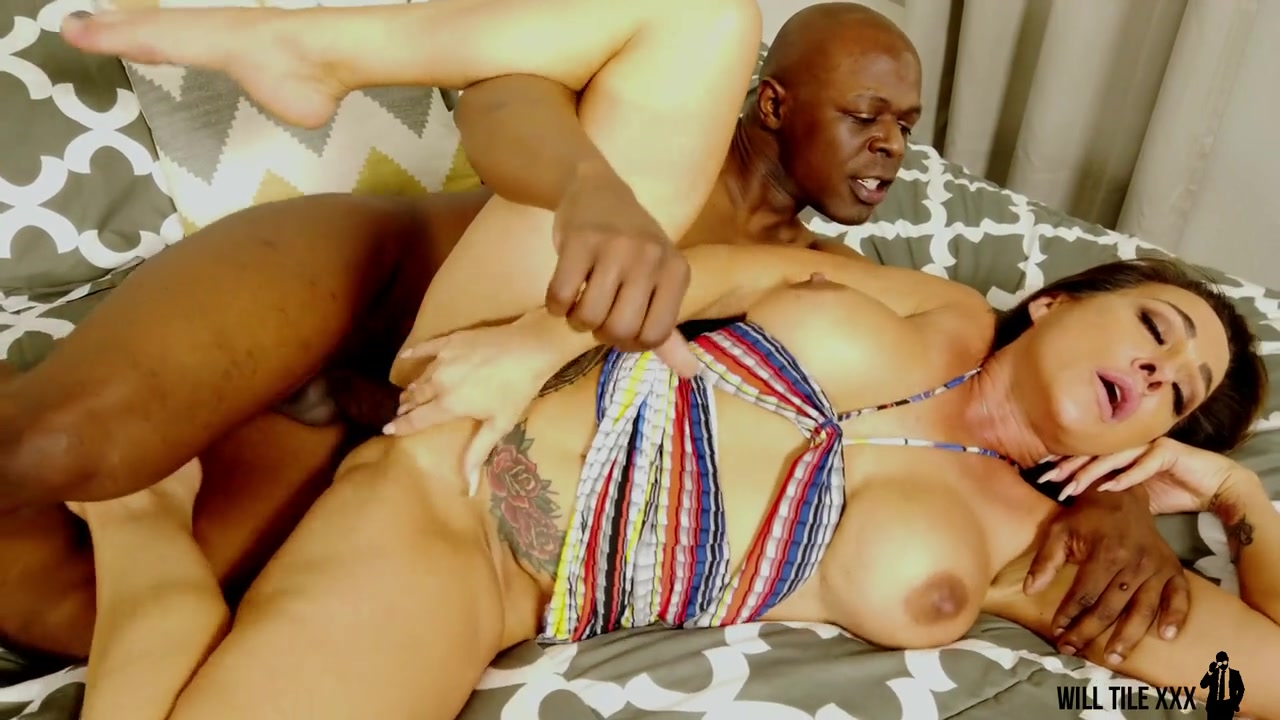 The Best Kind Of Interracial Date Starring Aubrey Black - mom with big fake tits