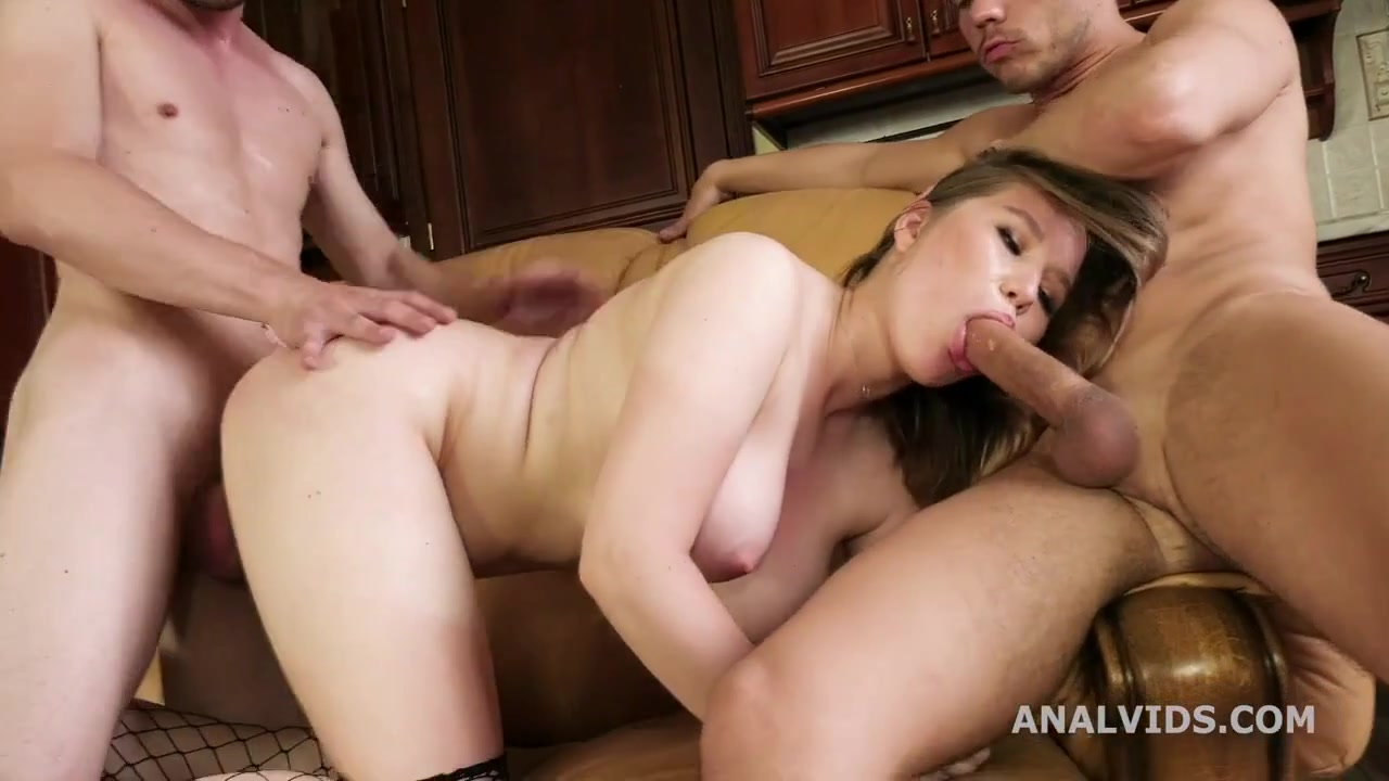 whore with asshole destroyed - anal and double penetration threesome