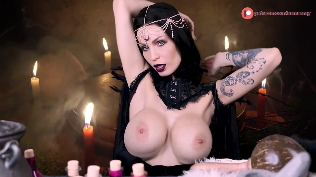 AA Tattooed Kinky Witch - Big tits in cosplay