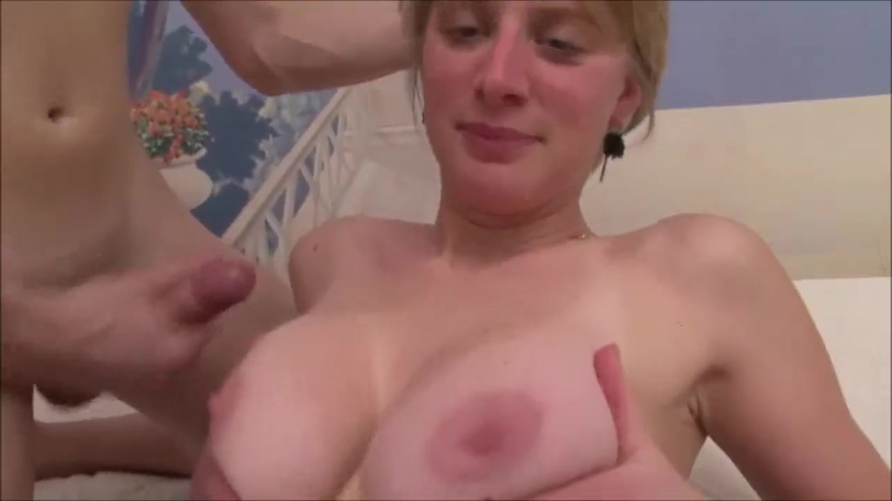 Francaise Au Naturel Young busty blonde French girl in stockings fucking hard